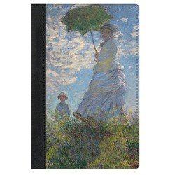 Promenade Woman by Claude Monet Genuine Leather Passport Cover