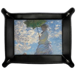 Promenade Woman by Claude Monet Genuine Leather Valet Tray