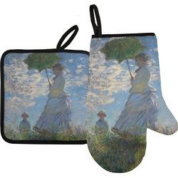Promenade Woman by Claude Monet Oven Mitt & Pot Holder Set