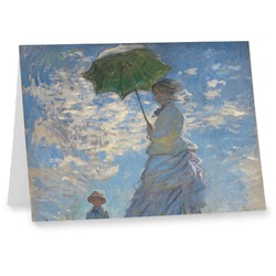 Promenade Woman by Claude Monet Note cards