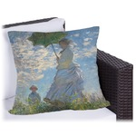 Promenade Woman by Claude Monet Outdoor Pillow