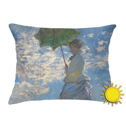 Promenade Woman by Claude Monet Outdoor Throw Pillow (Rectangular)