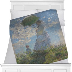 Promenade Woman by Claude Monet Minky Blanket