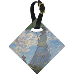 Promenade Woman by Claude Monet Diamond Luggage Tag