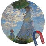Promenade Woman by Claude Monet Round Fridge Magnet