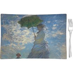Promenade Woman by Claude Monet Rectangular Glass Appetizer / Dessert Plate - Single or Set