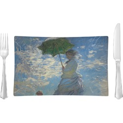 Promenade Woman by Claude Monet Rectangular Glass Lunch / Dinner Plate - Single or Set