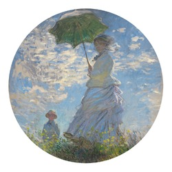 Promenade Woman by Claude Monet Round Decal
