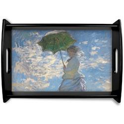 Promenade Woman by Claude Monet Black Wooden Tray