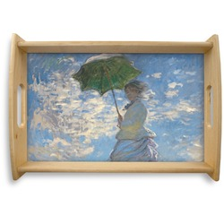 Promenade Woman by Claude Monet Natural Wooden Tray