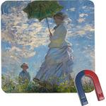 Promenade Woman by Claude Monet Square Fridge Magnet