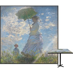 Promenade Woman by Claude Monet Square Table Top