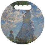 Promenade Woman by Claude Monet Stadium Cushion (Round)