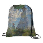 Promenade Woman by Claude Monet Drawstring Backpack