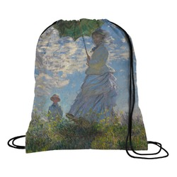 Promenade Woman by Claude Monet Drawstring Backpack