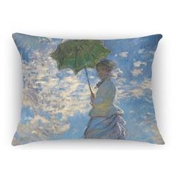 Promenade Woman by Claude Monet Rectangular Throw Pillow Case