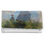Promenade Woman by Claude Monet Vinyl Checkbook Cover