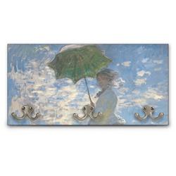 Promenade Woman by Claude Monet Wall Mounted Coat Rack