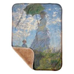 "Promenade Woman by Claude Monet Sherpa Baby Blanket 30"" x 40"""
