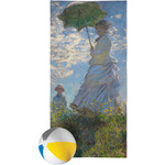 Promenade Woman by Claude Monet Beach Towel