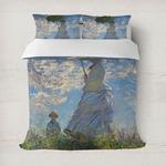 Promenade Woman by Claude Monet Duvet Cover