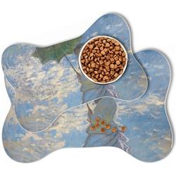 Promenade Woman by Claude Monet Bone Shaped Dog Food Mat