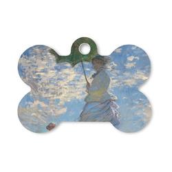 Promenade Woman by Claude Monet Bone Shaped Dog Tag