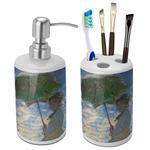 Promenade Woman by Claude Monet Ceramic Bathroom Accessories Set