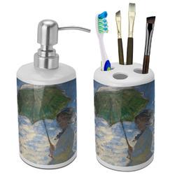 Promenade Woman by Claude Monet Bathroom Accessories Set (Ceramic)