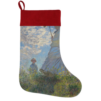 Promenade Woman by Claude Monet Holiday Stocking