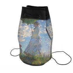 Promenade Woman by Claude Monet Neoprene Drawstring Backpack