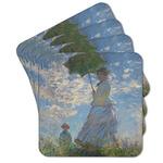 Promenade Woman by Claude Monet Cork Coaster - Set of 4