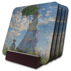 Promenade Woman by Claude Monet Coaster Set w/ Stand