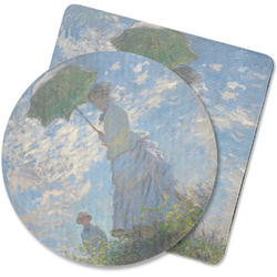 Promenade Woman by Claude Monet Rubber Backed Coaster