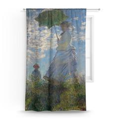 Promenade Woman by Claude Monet Curtain