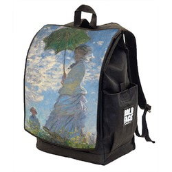 Promenade Woman by Claude Monet Backpack w/ Front Flap