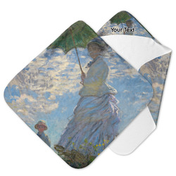 Promenade Woman by Claude Monet Hooded Baby Towel