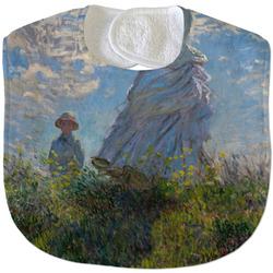 Promenade Woman by Claude Monet Velour Baby Bib