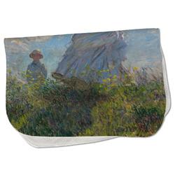 Promenade Woman by Claude Monet Burp Cloth - Fleece