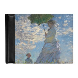 Promenade Woman by Claude Monet Genuine Leather Guest Book