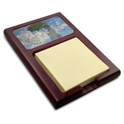 Promenade Woman by Claude Monet Red Mahogany Sticky Note Holder