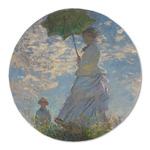 Promenade Woman by Claude Monet Round Linen Placemat