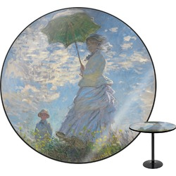 Promenade Woman by Claude Monet Round Table