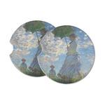 Promenade Woman by Claude Monet Sandstone Car Coasters