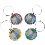 Promenade Woman by Claude Monet Wine Charms (Set of 4)