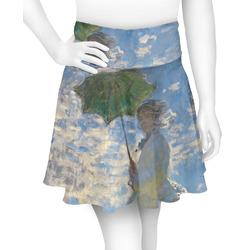 Promenade Woman by Claude Monet Skater Skirt