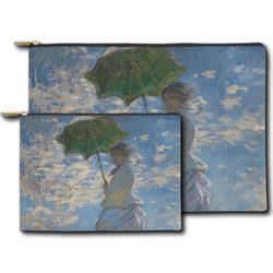 Promenade Woman by Claude Monet Zipper Pouch