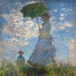 Promenade Woman by Claude Monet