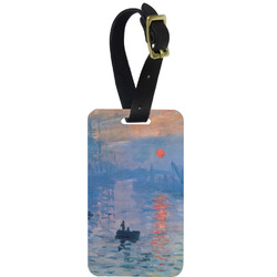 Impression Sunrise by Claude Monet Metal Luggage Tag