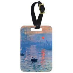 Impression Sunrise by Claude Monet Metal Luggage Tag